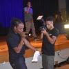 Bobby Booshay performing at Harlem Hospital