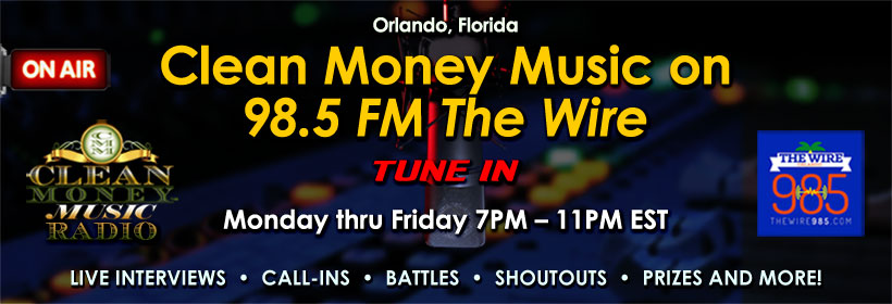 Clean Money Music on 98.5FM The Wire