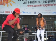 Bobby Booshay & KB on Stage in Harlem