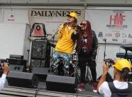 Vendeta Babie feat Josh Landy on the Hot97 stage during Harlemweek 2018