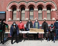 Greater Harlem Chamber of Commerce-supported food program at Salem United Methodist Church