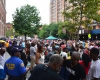 Side Stage view Sunday Harlem Week performance.