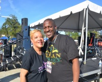 Monica May and Prof. Stymie at The Dr. Martin Luther King Parade & Unity Celebration