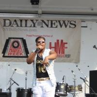 Destiny J during Harlemweek on Hot 97 Stage