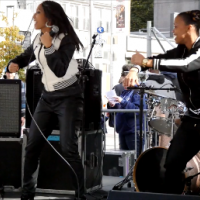 Clean Money Music  performance at New York Marathon with BriaMarie