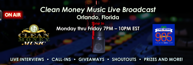 Clean Money Music expands on Orlando's hot new urban hip hop radio station 98.5FM The Wire