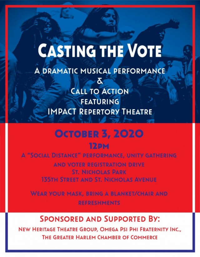 JOIN IMPACT REP TOMORROW OCT. 3, CASTING THE VOTE
