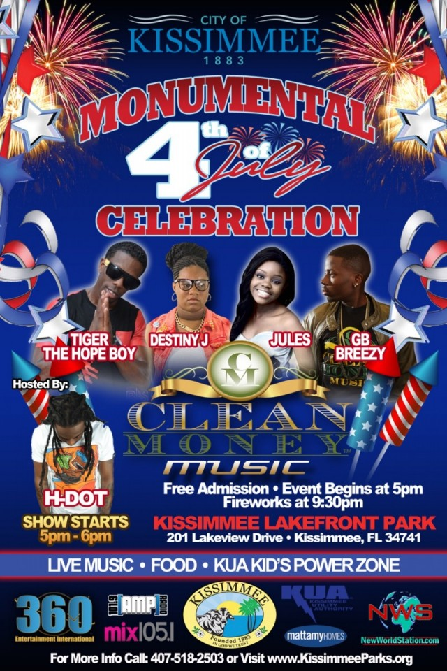Come celebrate The 4th of July with Clean Money Music!!!