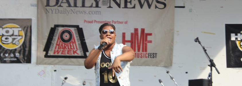 Destiny J during Harlemweek on Hot 97 Stage